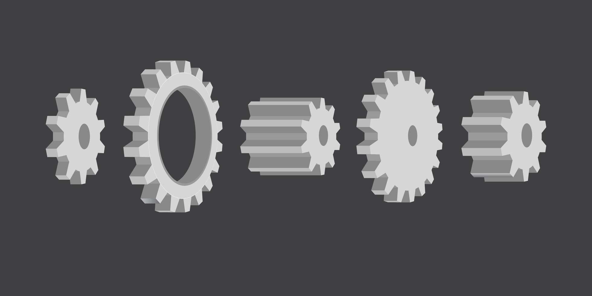 grå växelhjulssats vektor