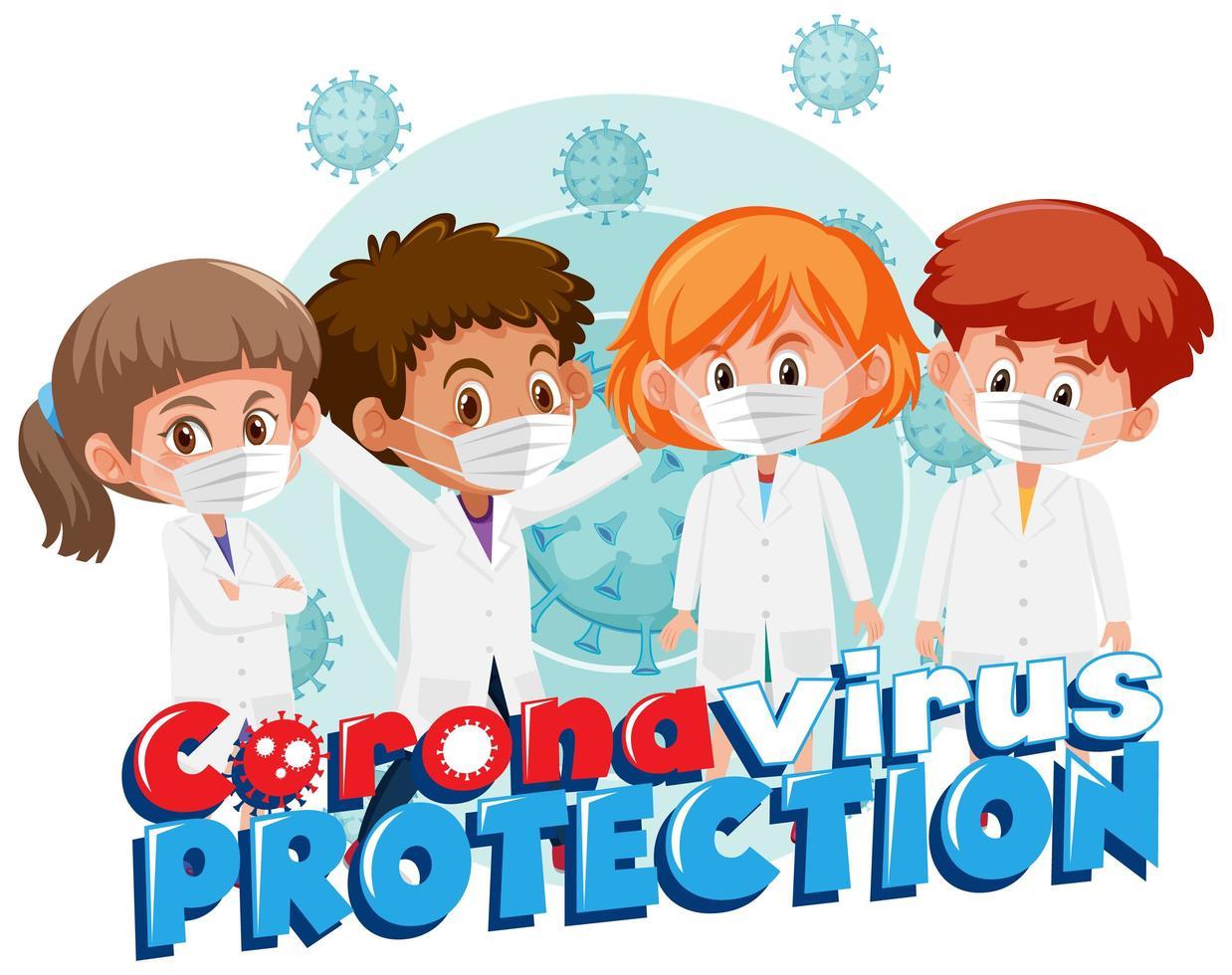 grupp unga läkare som kämpar mot covid-19 vektor
