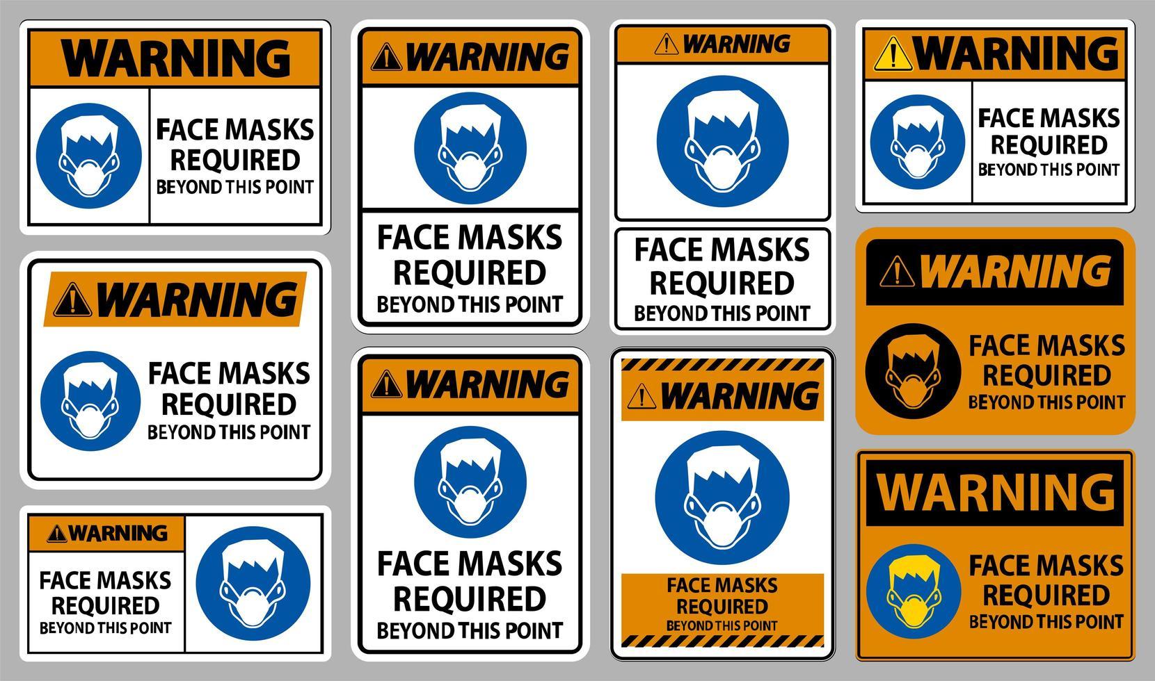 orange ansiktsmasker som krävs utöver denna punktteckenuppsättning vektor
