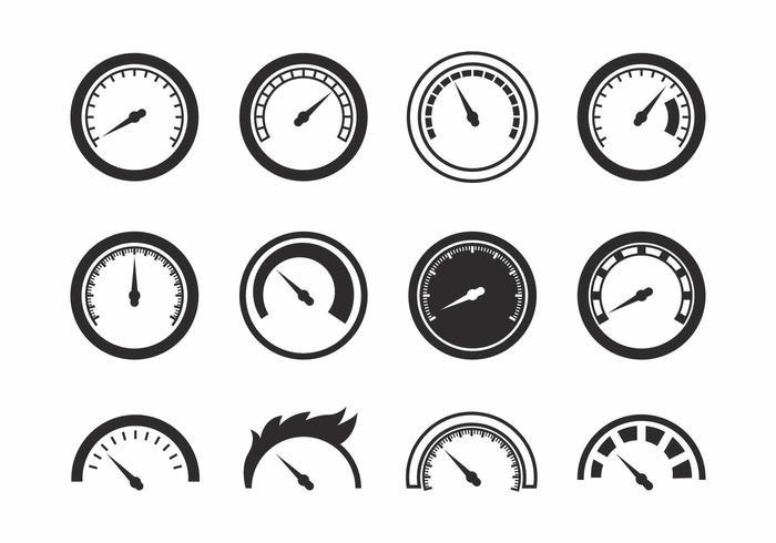 Free Tachometer Icons Vektor