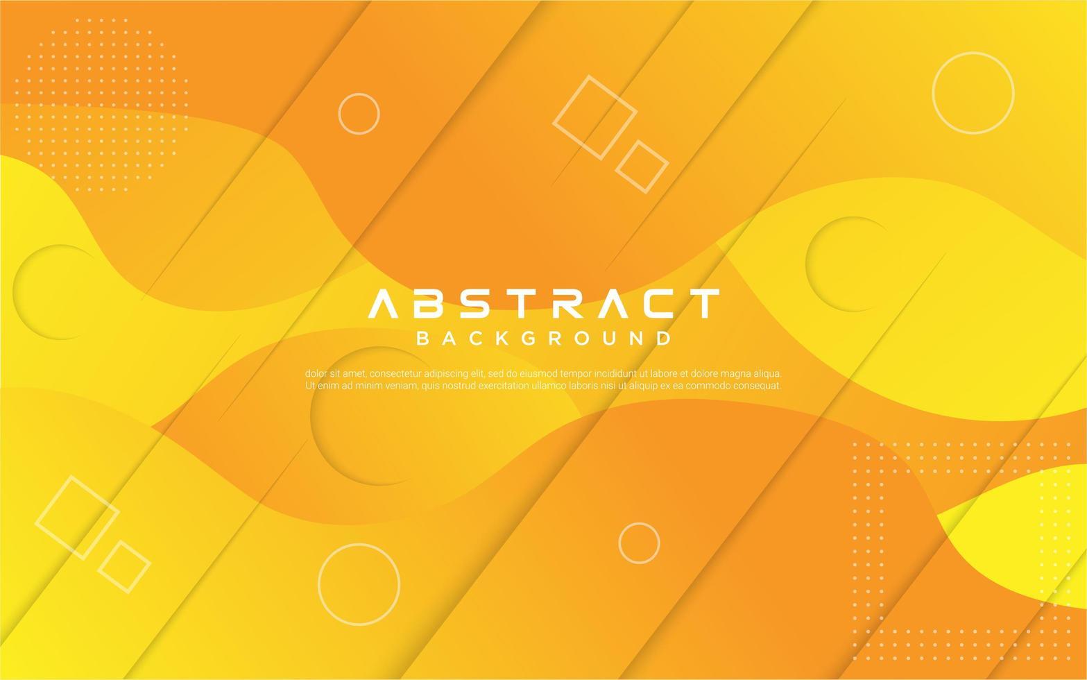 abstrakt gradient fluid gul design vektor