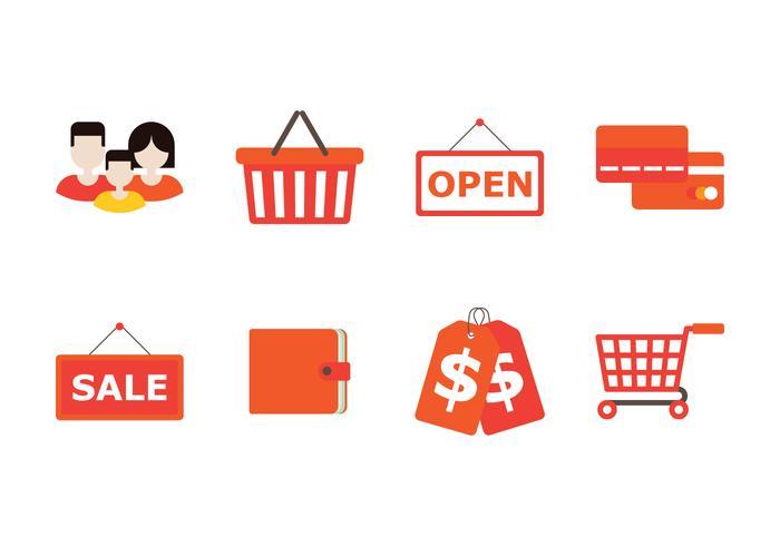 Familie Shopping Icon vektor
