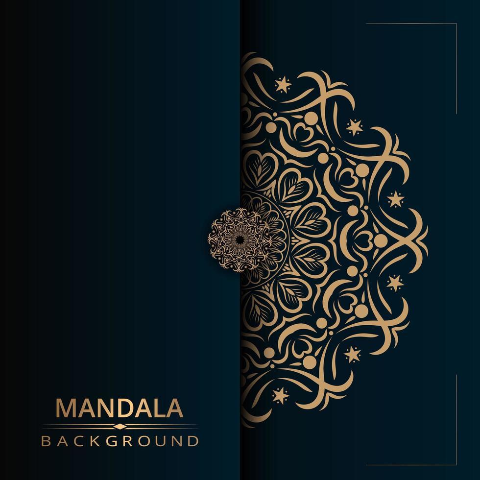 lyx dekorativ mandala design bakgrund vektor