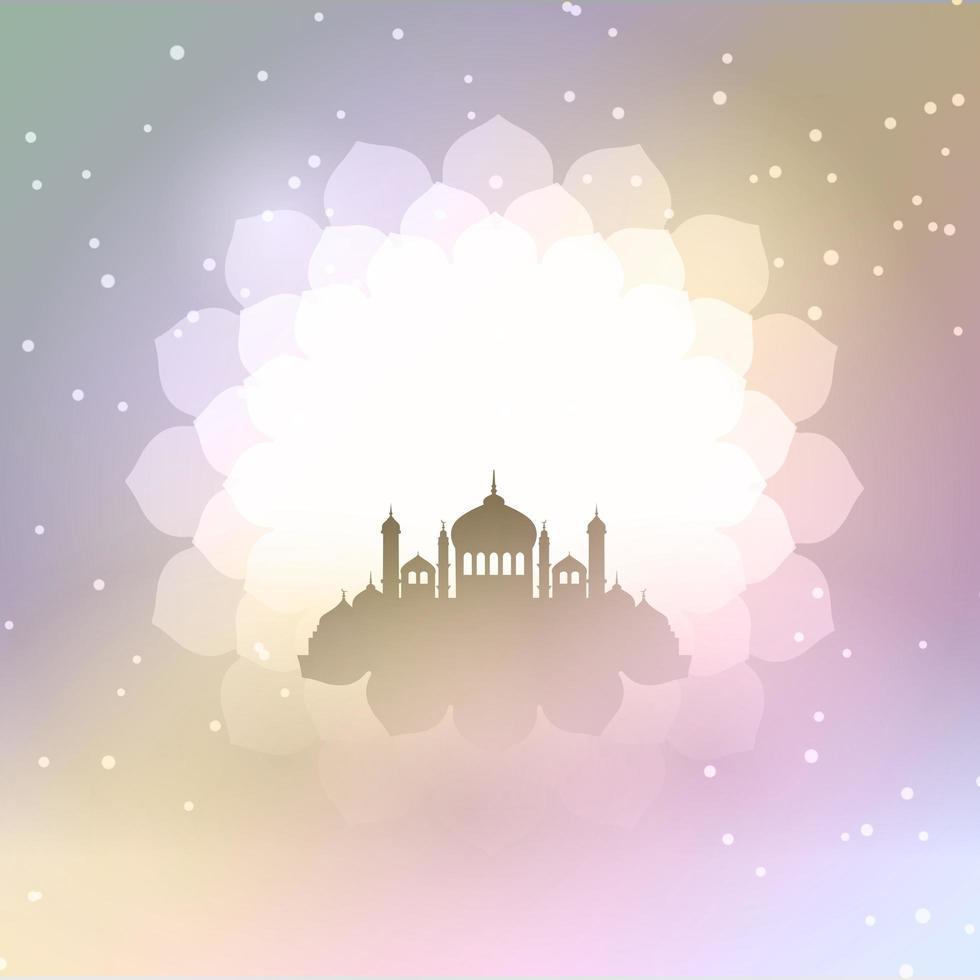 Eid al Adha Hintergrund mit Moschee Silhouette vektor