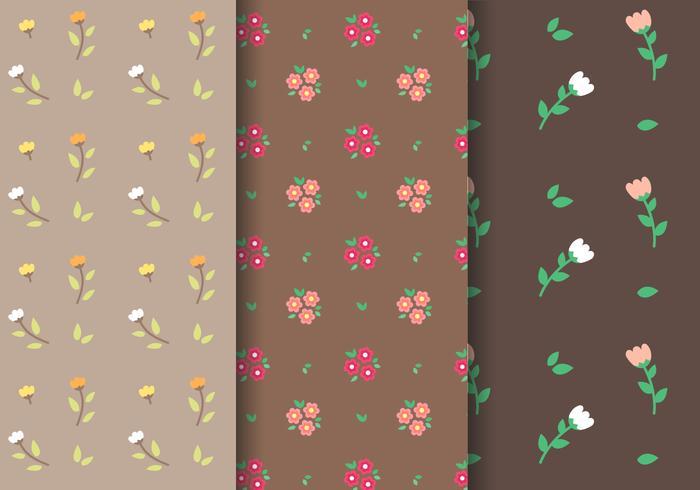 Tulpan och Daisy Pattern Vector