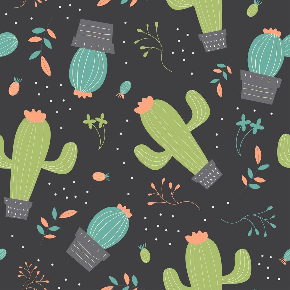 Muster des Kaktus vektor