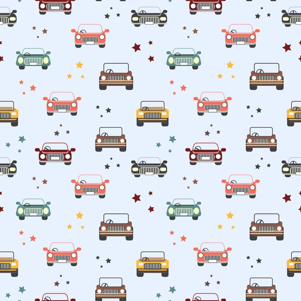 nahtloses Muster von Spielzeugautos vektor