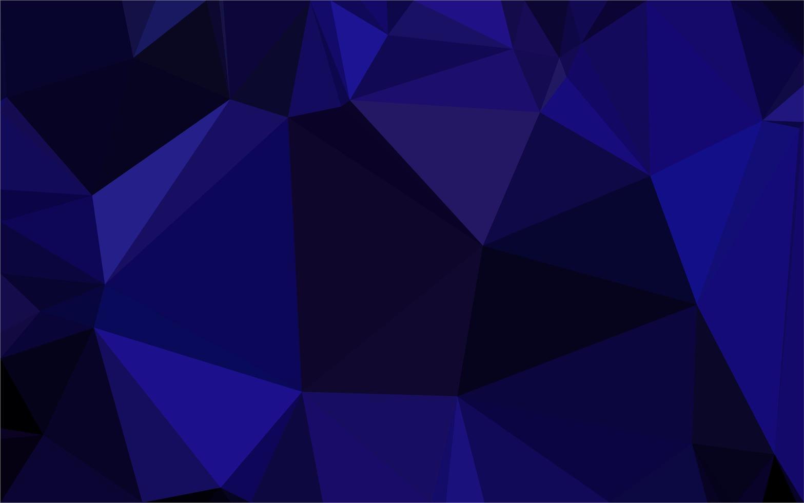 mörkblå poly bakgrund vektor