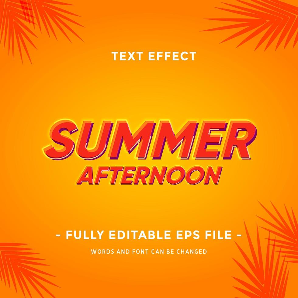 Sommersaison-Texteffekt vektor