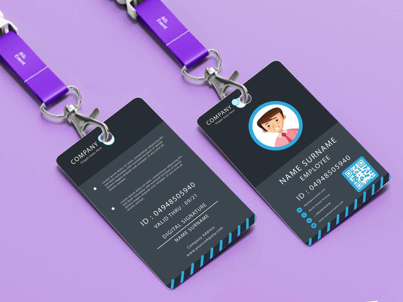 kommersiell användbar anställds ID-mall vektor