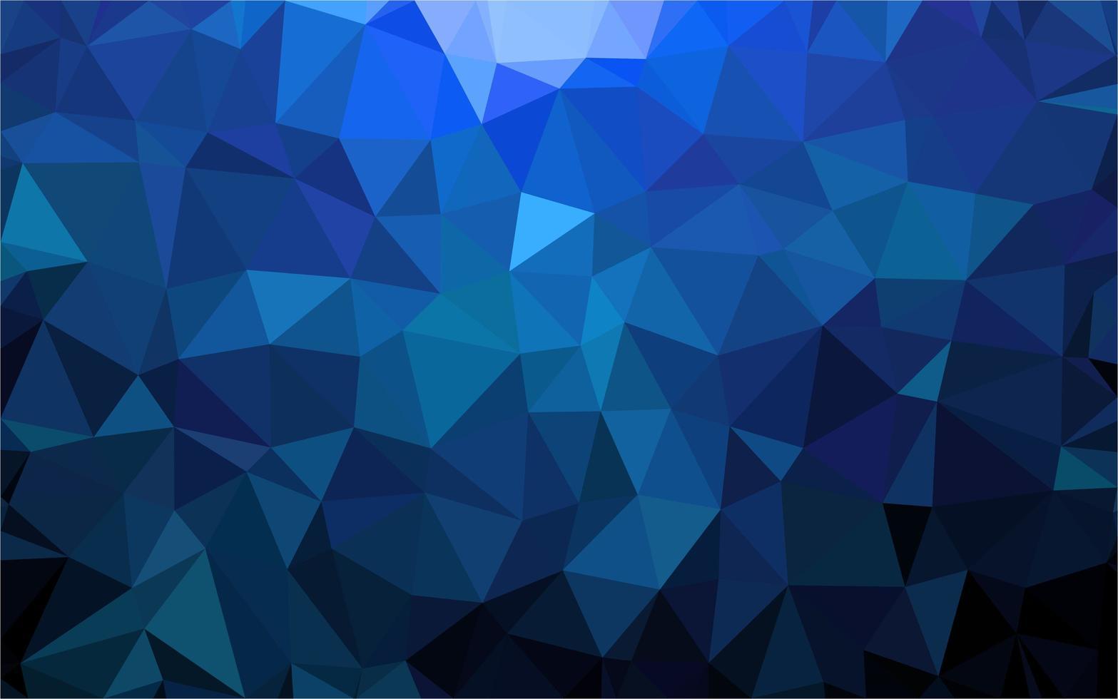 polygonaler blauer Hintergrund vektor