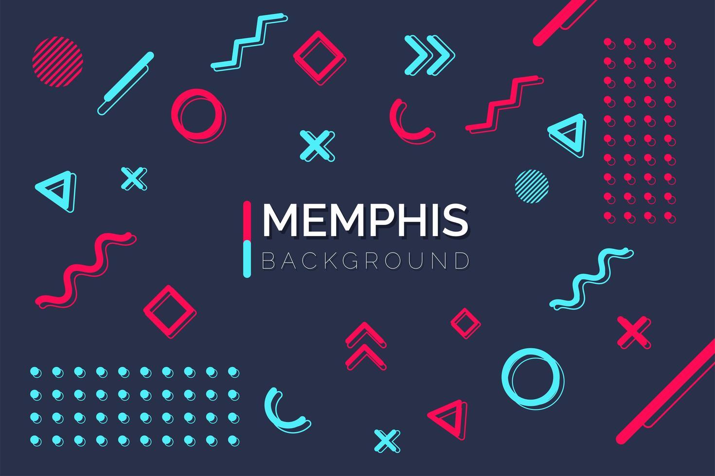 geometrische Memphis Formelemente vektor