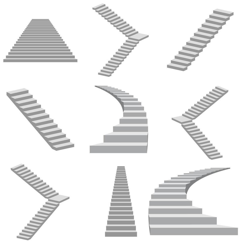Treppe auf Weiß vektor