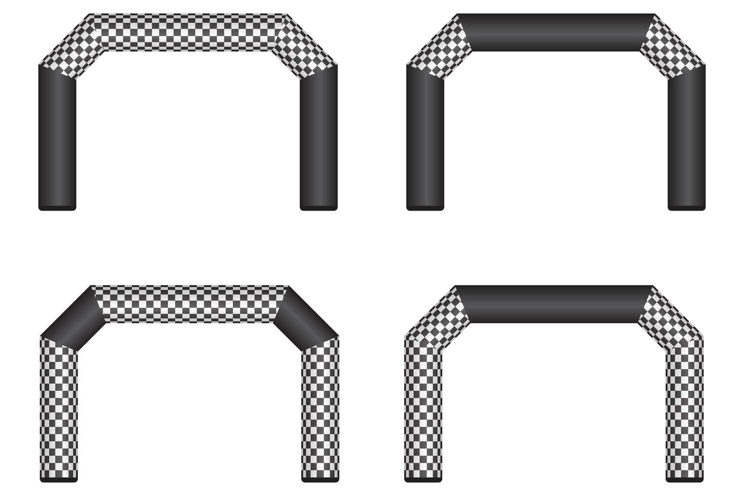 aufblasbare Ziellinie mit flachen Ecken vektor