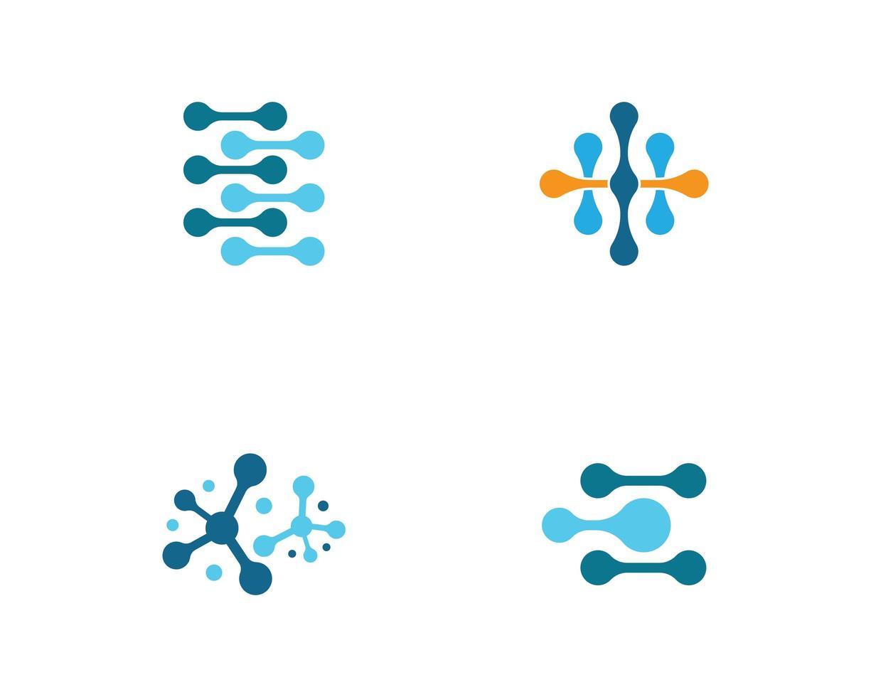 Molekül Logo Icon Set vektor