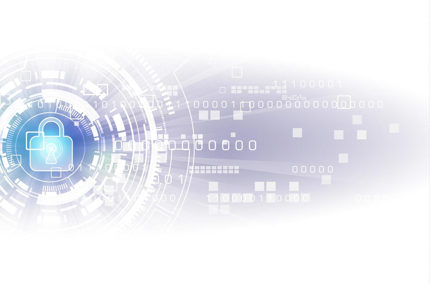 säkerhet digital teknik koncept vektor