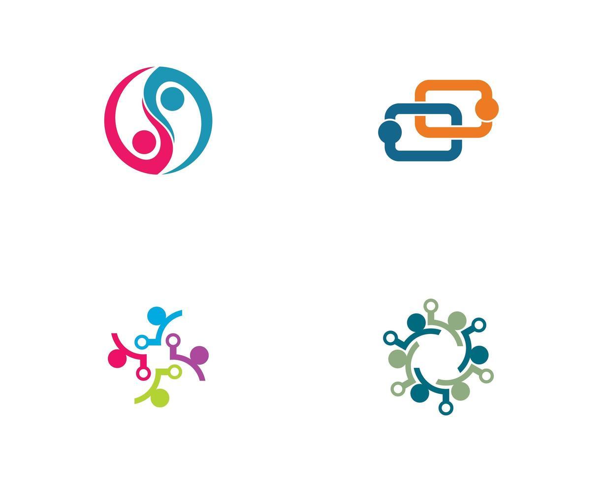 Community Link Logo eingestellt vektor