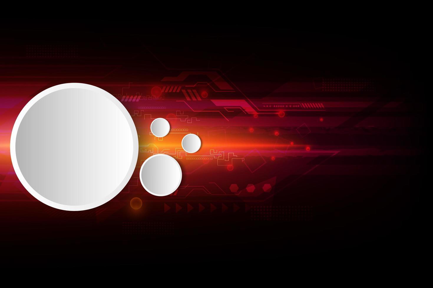 röd digital framtidsteknologidesign med vita ramar vektor