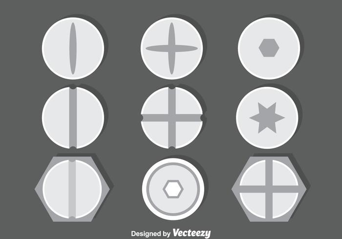 Schraube und Schraube Sammlung Vektor