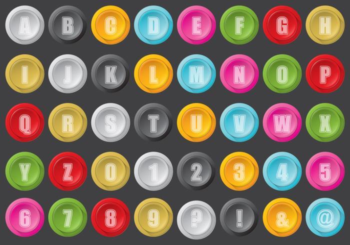 Arcade-Button-Typ vektor