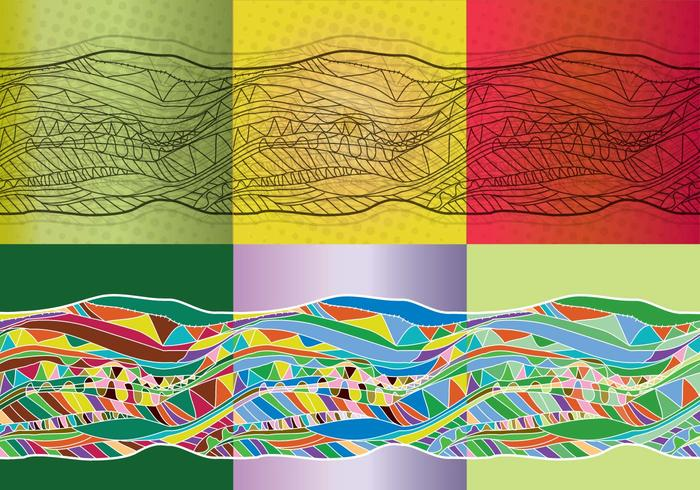 Ekologisk bakgrundsfärg vektor