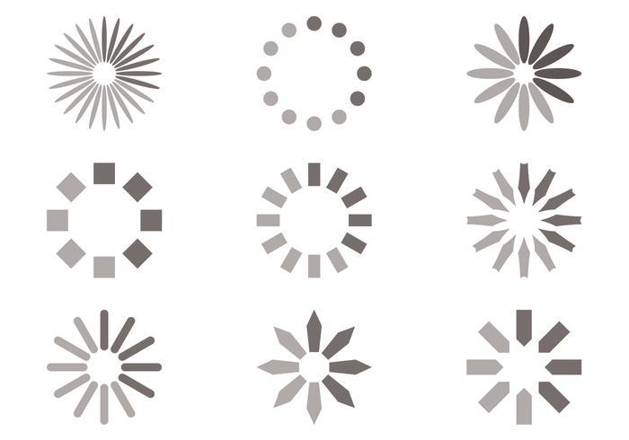 Kreis-Preloader-Vektorsatz vektor