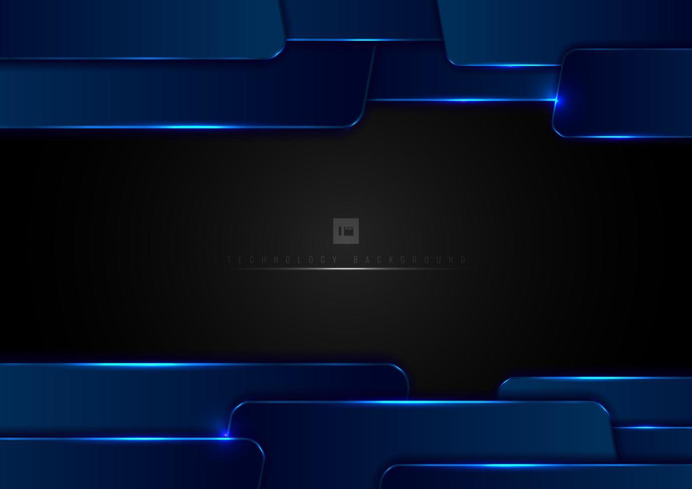 abstrakt teknikmall blå överlappande lager vektor