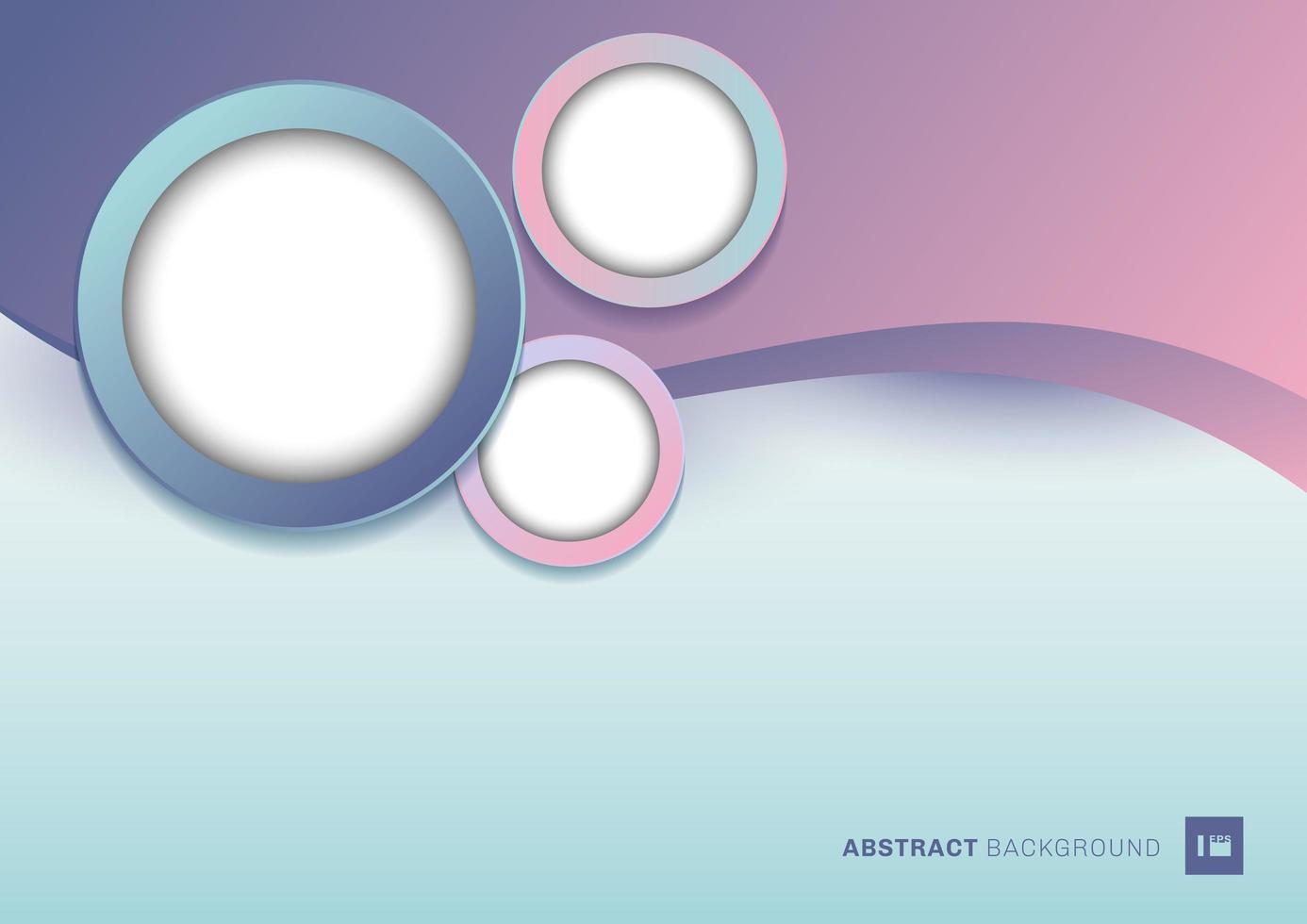 abstrakte rosa und blaue Welle und Kreise vektor