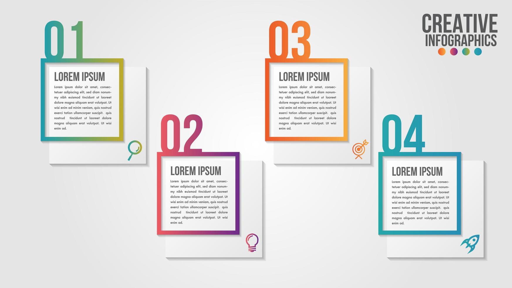 Infografik moderne Zeitleiste Schritt nummerierte Schritte eingestellt vektor