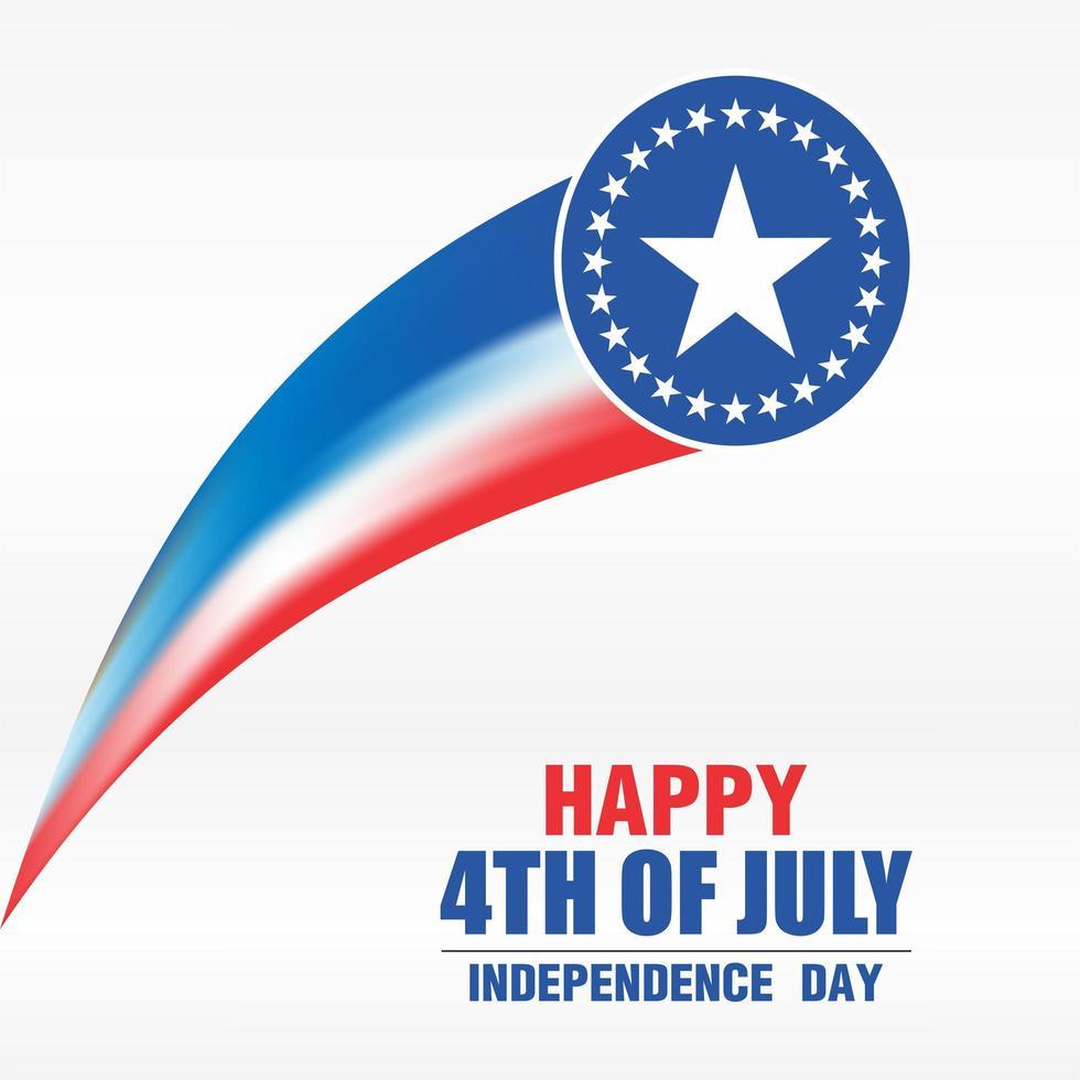 4: e juli självständighetsdagen firande affisch stjärnor vektor