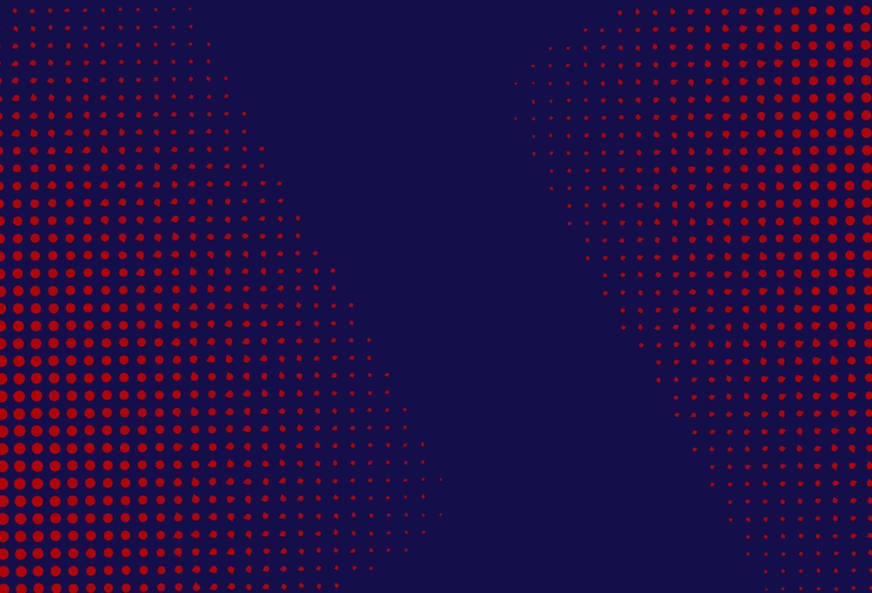 roter und blauer Halbtonhintergrund vektor