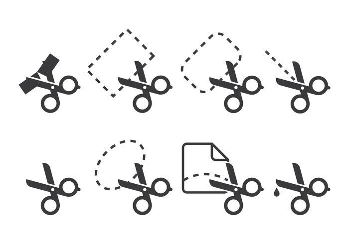 Ribbon Schneide Icons vektor