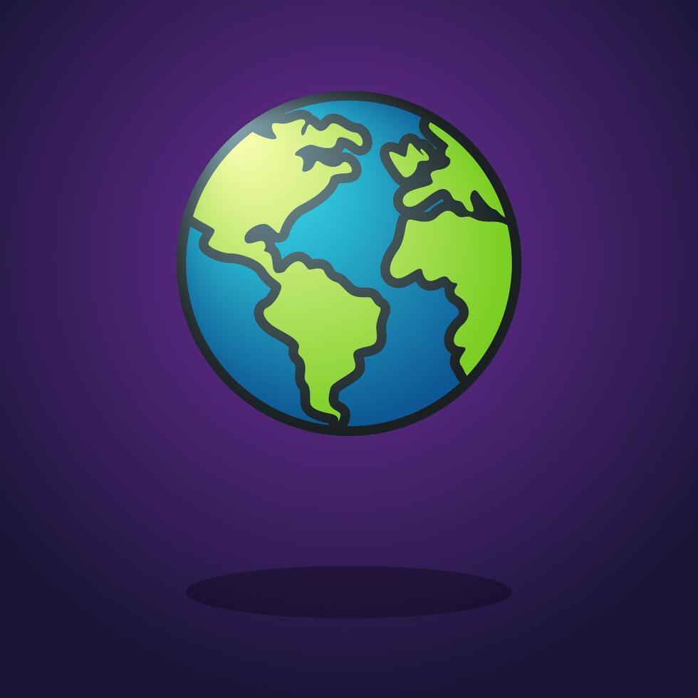 Planet Erde Ikone vektor