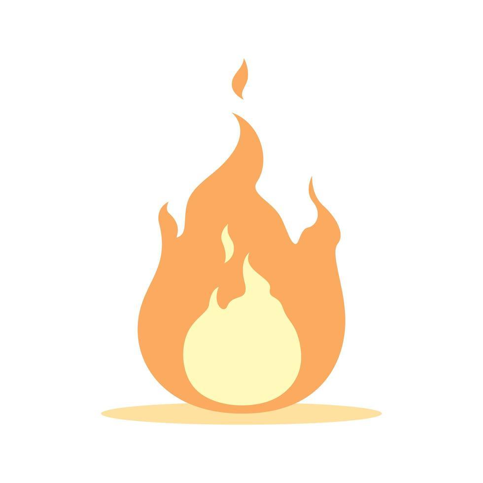 einzelne Flamme isoliert vektor