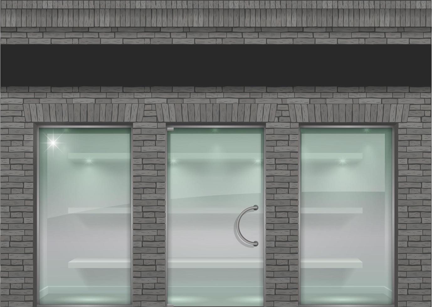 grå tegel loft fasad vektor