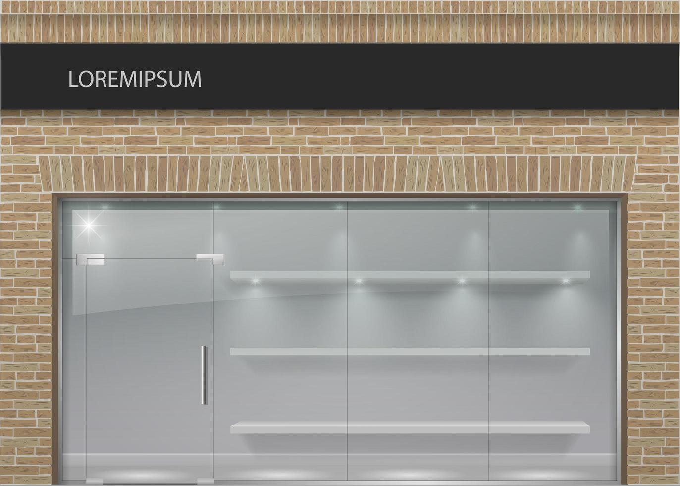 loft stil tegel fasader med panoramautsikt glas vektor