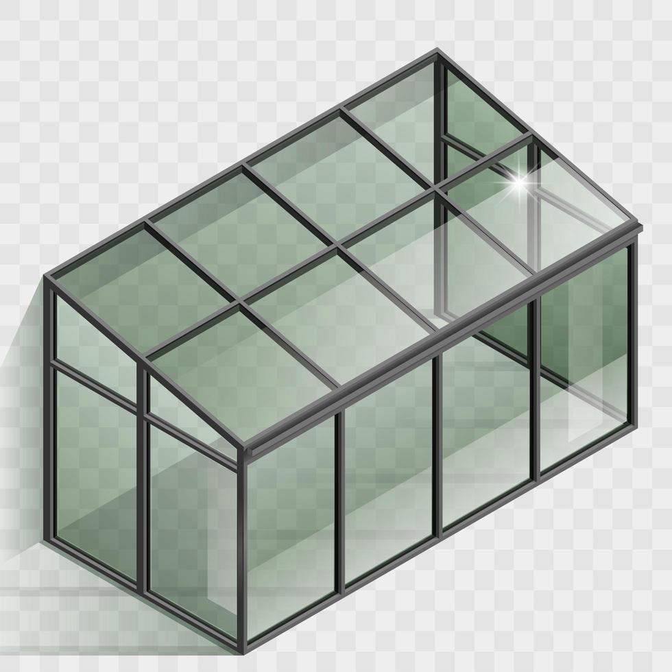 växthus eller vinterträdgårdselement vektor