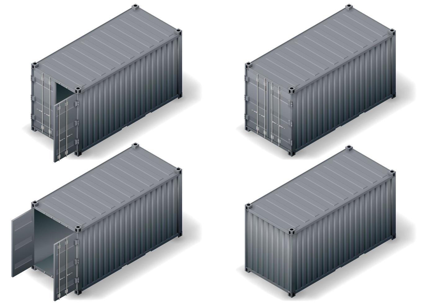 uppsättning lastbehållare vektor