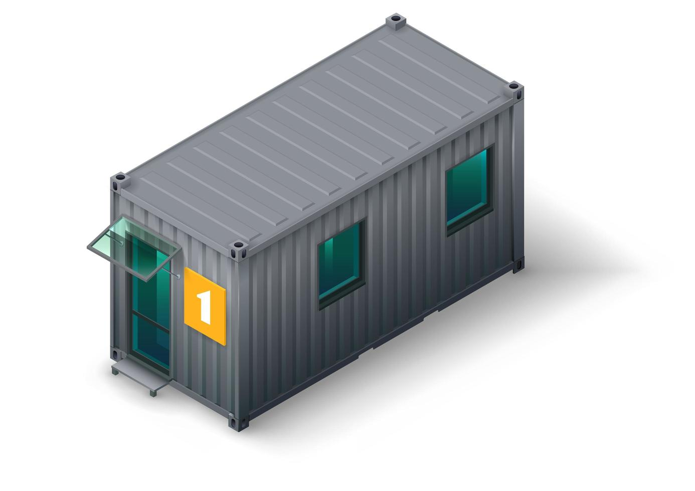 modulär containerbostad för personal eller arbetare vektor