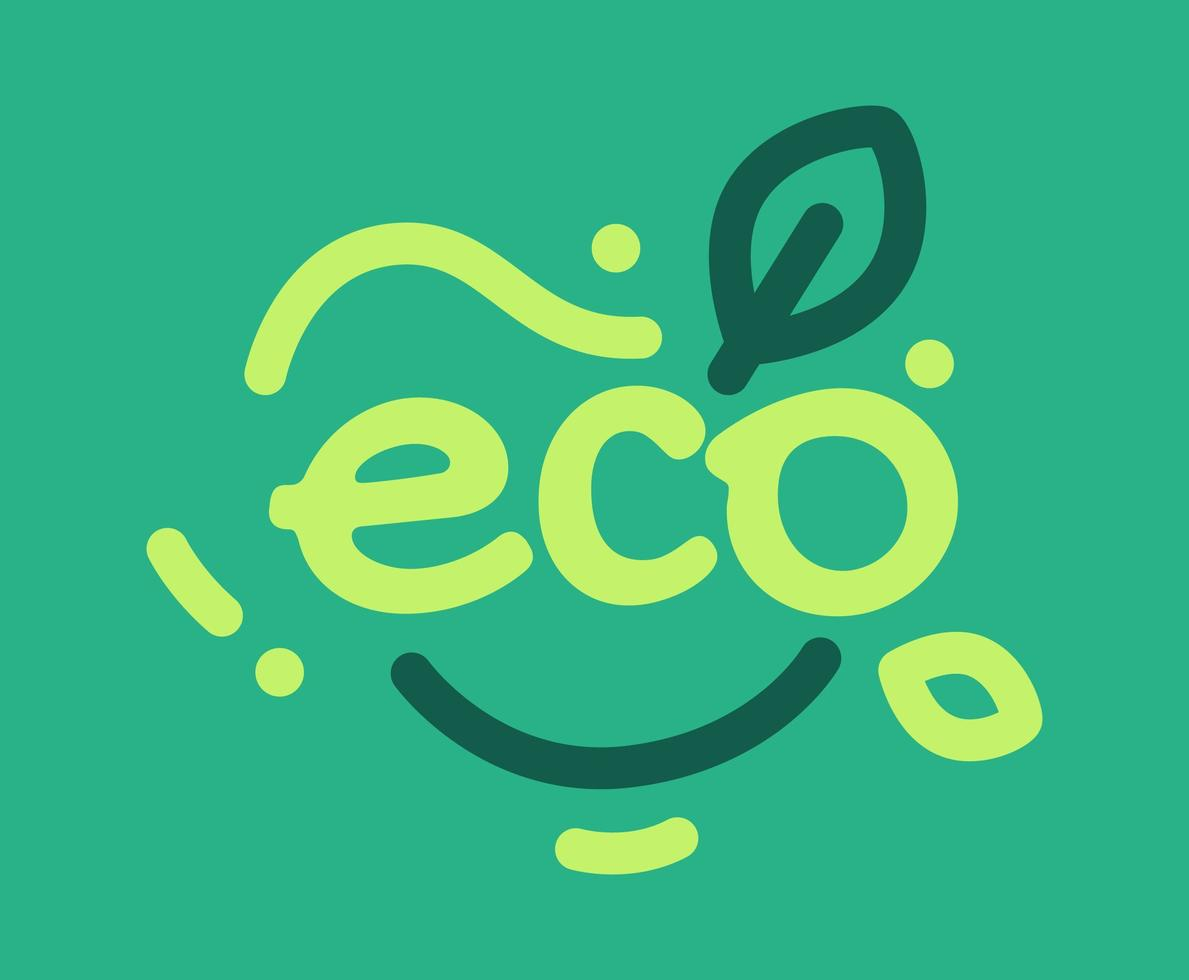 das Wort Öko-Typografie-Vektor vektor