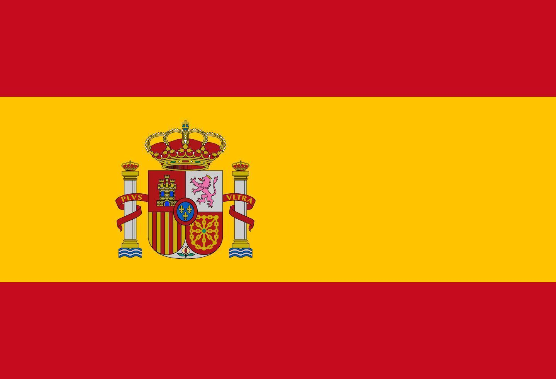 Illustration der spanischen Flagge vektor
