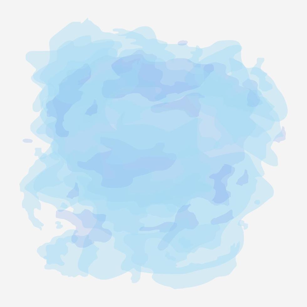 bakgrundsvektor för pastellblått vattenfärg vektor
