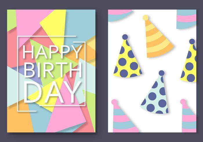 Free Happy Birthday Card Vektor