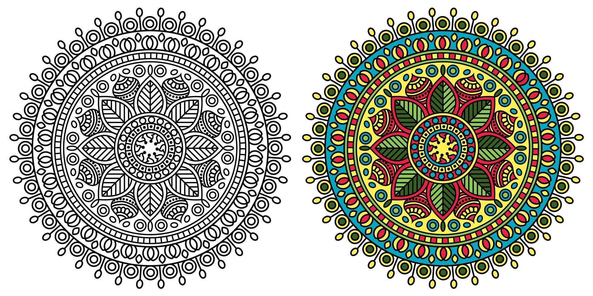 abgerundete dekorative mandala malvorlagen  download