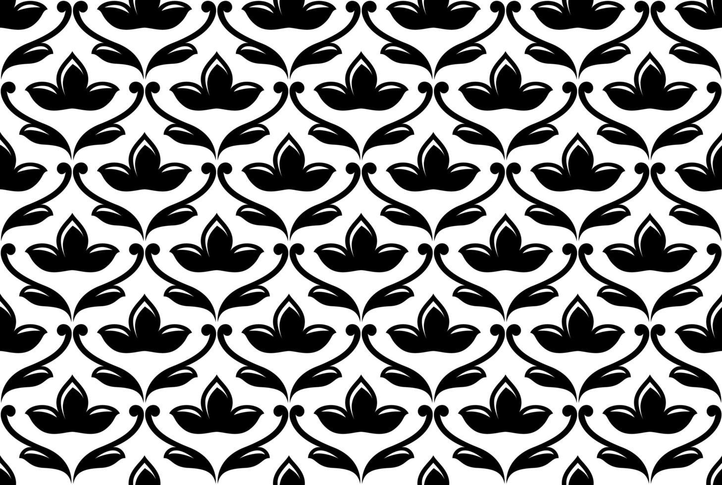 nahtloses ethnisches Blumenmuster vektor
