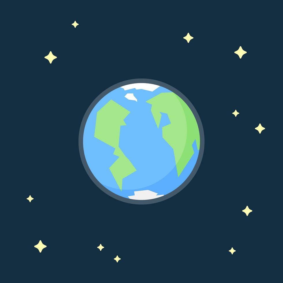 Planet Erde, Blick aus dem Weltraum. vektor