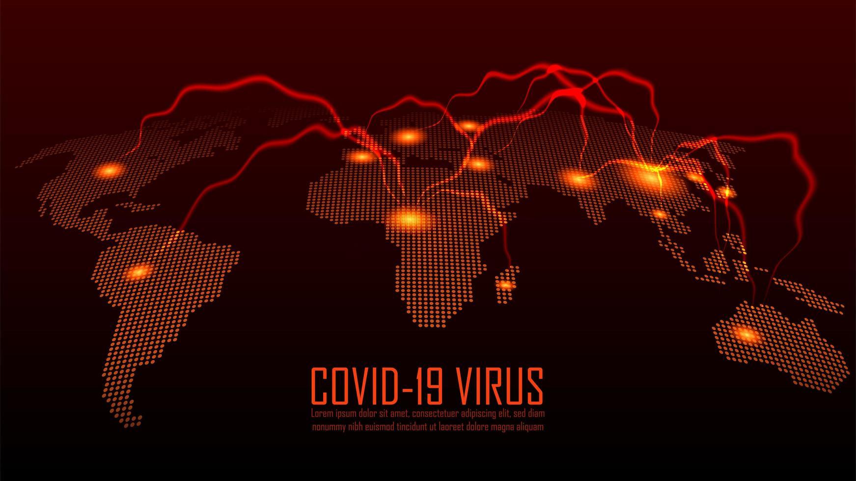 Coronavirus-Ausbruch auf der ganzen Welt Design vektor