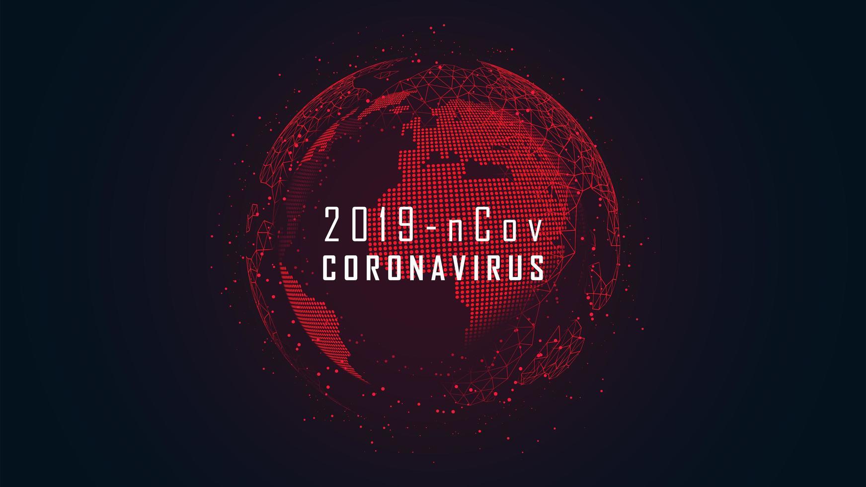 Coronavirus globales Pandemie-Ausbruch-Wireframe-Design vektor