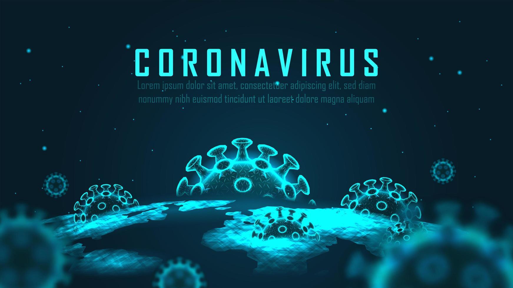Design des globalen Pandemie-Ausbruchs des Virus vektor