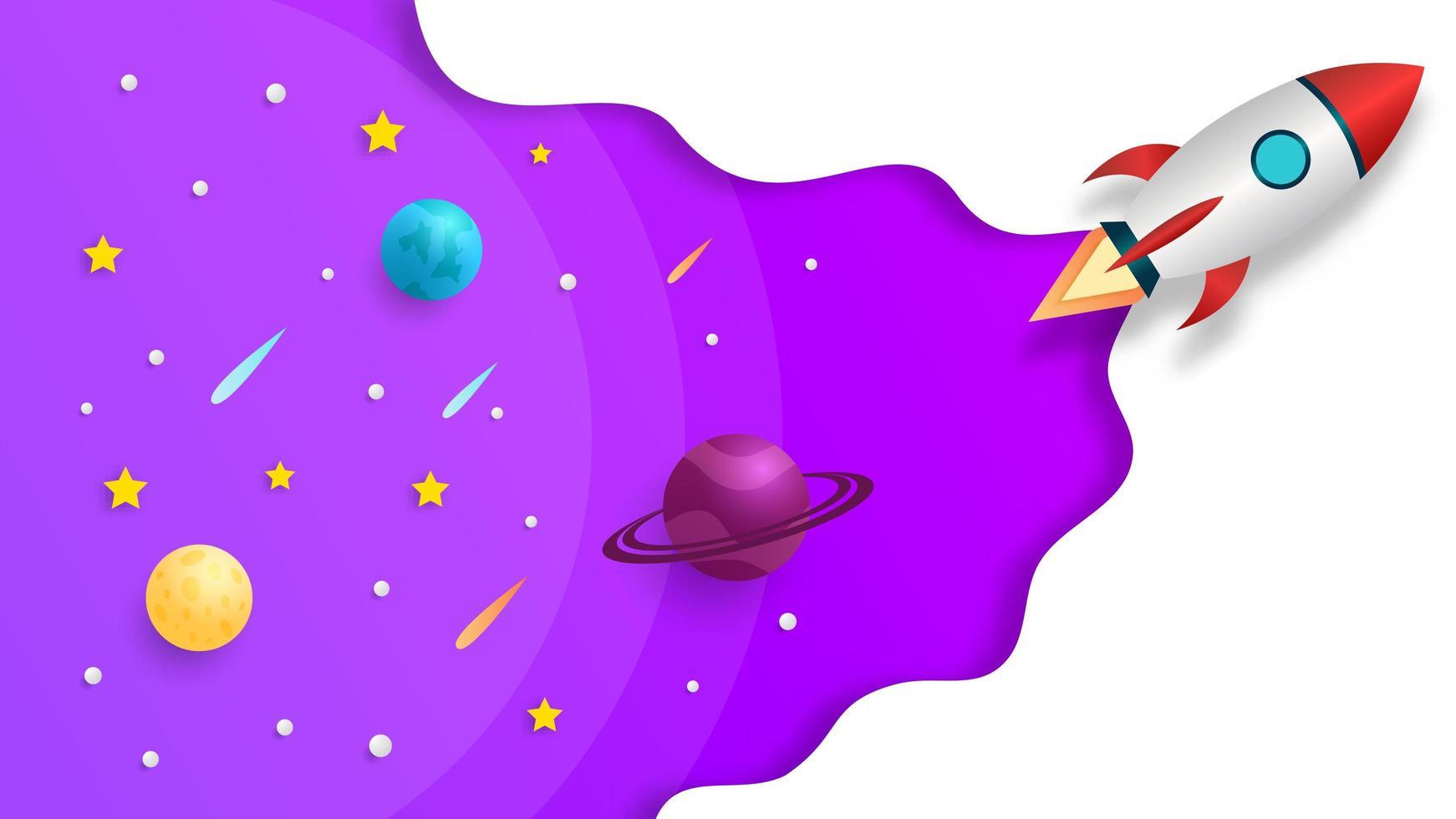 raket som sjösätter ut ur rymden vektor